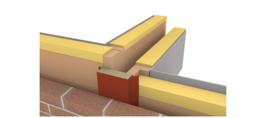 ARC Party Wall TCBs (flanged cavity fire barrier) - Timber Frame to Brickwork Construction